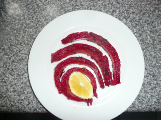 Mackerel and Beetroot Gravlax by M. Kuehn
