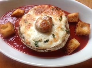 Portobello Mushrooms with Taleggio in Tomato Sauce by Zina Manda