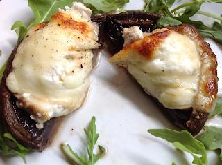 Portobello Mushrooms with Ricotta, Parmesan and Mozzarella by M. Kuehn