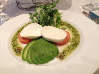 Tri-colore – a salad of tomato, mozzarella and avocado