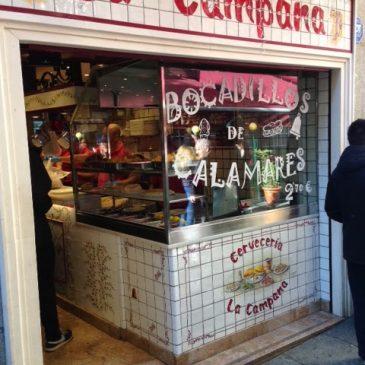 La Campana: Bocadillos de Calamares, Madrid by Michael R. Goss