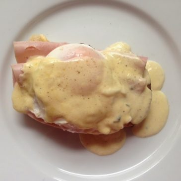 Poached Eggs with Gruyere and Parmesan Cream by M. Kuehn