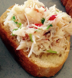 Crab, Chili and Lime Crostini by M. Kuehn